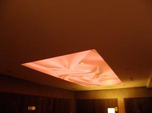 Nišoms naudotas CLIPSO šviesą sklaidantis audinys